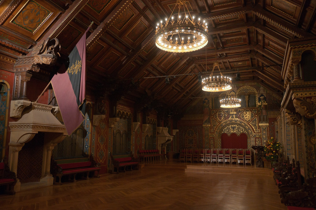 Inside Wartburg in Eisenach, Germany