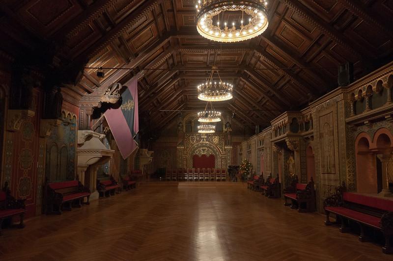 Empty room inside Wartburg Castle in Eisenach, Germany