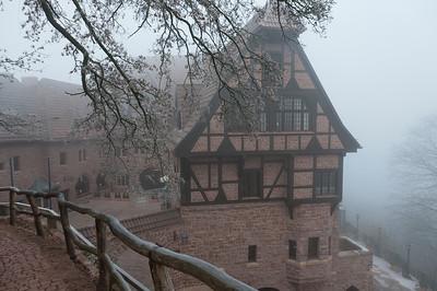 Wide shot of the Wartburg castle in Eisenach, Germany