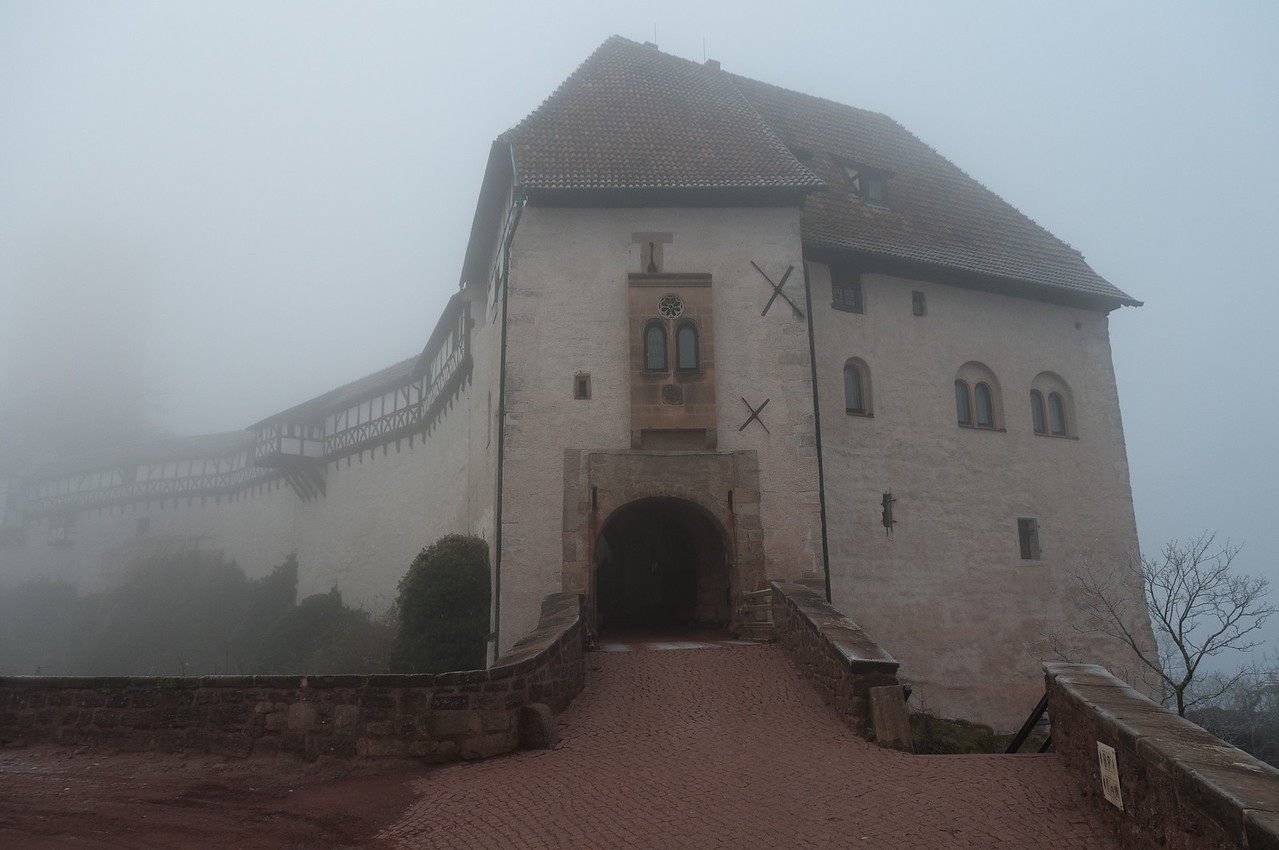 The main entrance to Wartburg in Eisenach, Germany