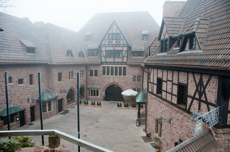 The courtyard at Wartburg in Eisenach, Germany