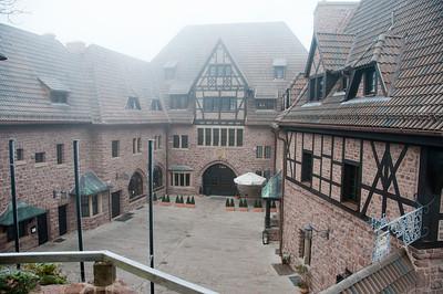 The courtyard at Wartburg in Eisenach, Germany