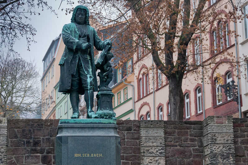 The Bach statue in Eisenach, Germany