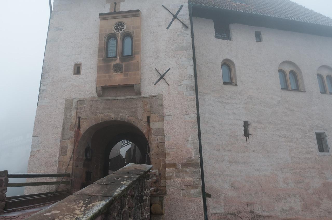 Entrance door to Wartburg in Eisenach, Germany