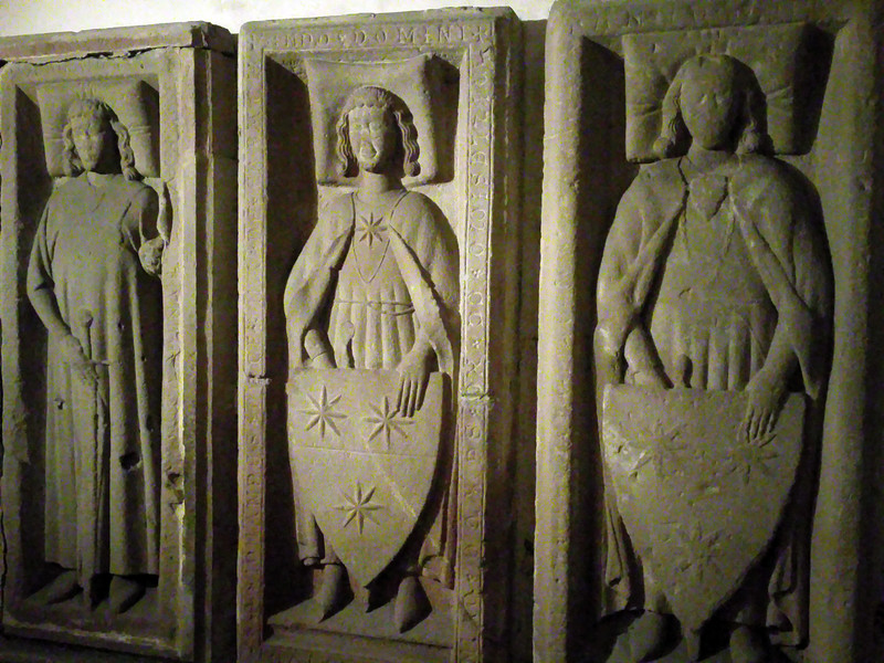 Erbach Germany, Castle, Sandstone Figures from 1200