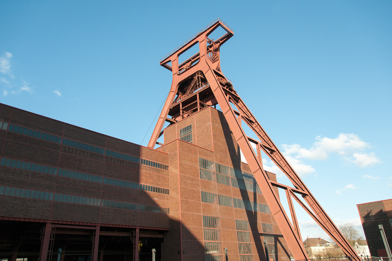 The main tower at Zollverein in Essen, Germany