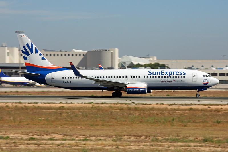 "D-ASXC Boeing 737-86N ""SunExpress Germany"" c/n 30806 Palma/LEPA/PMI 13-06-16 ""Eurowings"""