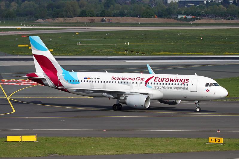 "D-AEWM Airbus A320-214 c/n 7259 Dusseldorf/EDDL/DUS 20-04-17 ""Boomerang Club"""