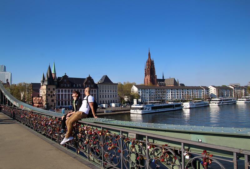 Frankfurt Germany, Eiserner Steg Bridge