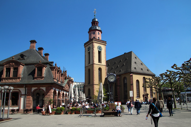 Frankfurt Germany, Hauptwache, St. Catherines Church