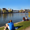Frankfurt Germany, Waterfront from Sachsenhausen