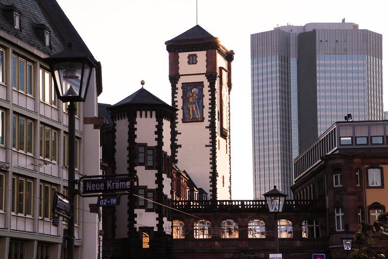 Frankfurt Germany, Medieval Tower in Old Town