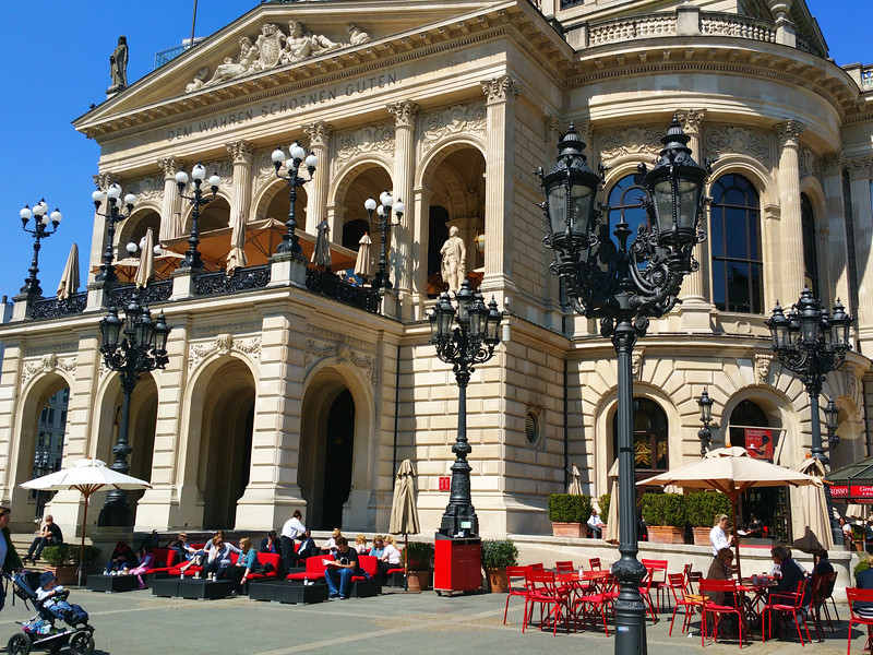 Frankfurt Germany, Old Opera Café