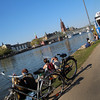 Frankfurt Germany, Velo Taxi  Along Waterfront