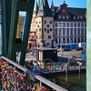 Frankfurt Germany, Eiserner Steg Bridge