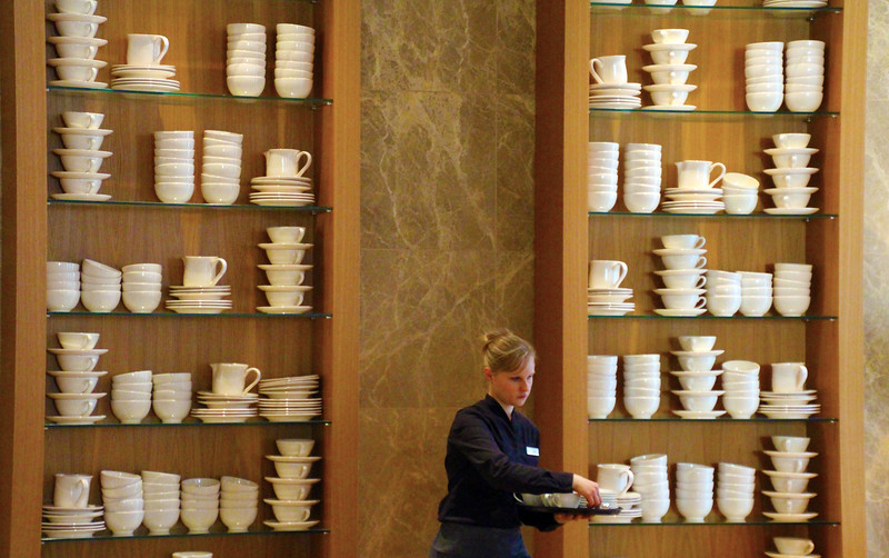 Frankfurt Germany, Jumeirah Hotel, Breakfast Buffet Wall