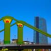 Frankfurt Germany, Art Deco Bridge, European Central Bank
