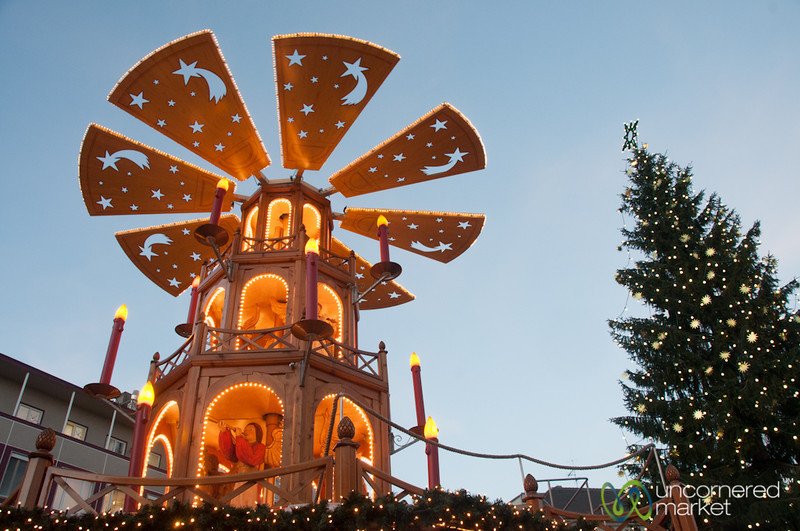 Christmas Pyramid at Augsburg Christmas Market - Bavaria, Germany