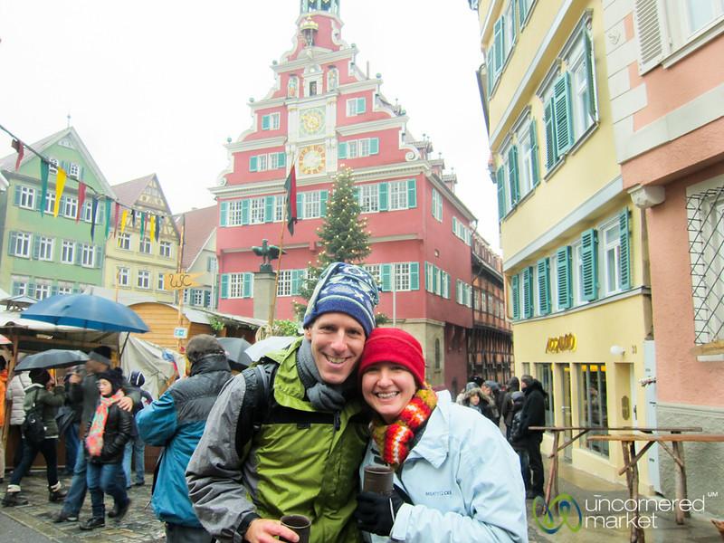 Dan and Audrey at Esslingen Christmas Market - Germany