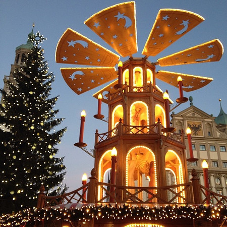 The Christmas pyramid, Augsburg Christmas Market - Germany