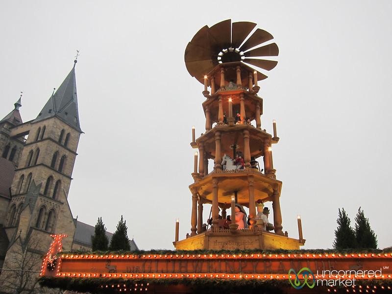 Glühwein Pyramid - Esslingen Christmas Market, Germany