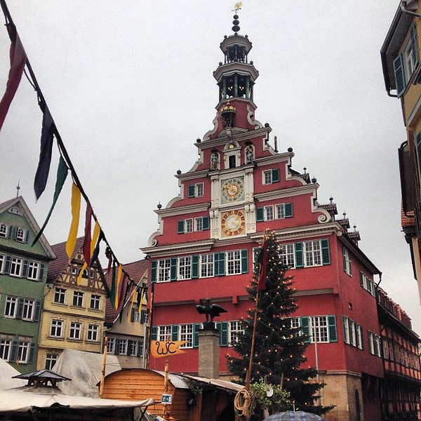 Esslingen Rathaus, Middle Ages Christmas market - Germany