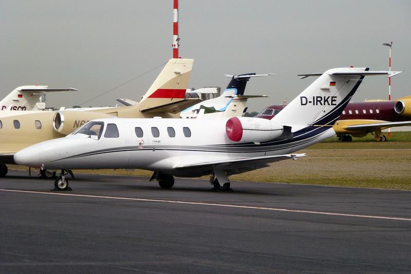 D-IRKE Cessna 525 Citation Jet c/n 525-0123 Dusseldorf/EDDL/DUS 21-09-12
