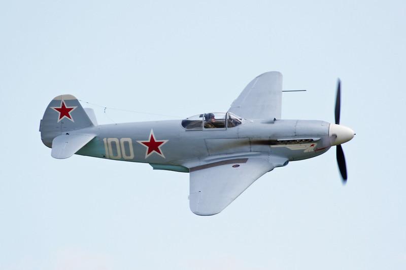 D-FJAK (100 white) Yakovlev Yak-3UA c/n 0470107 Duxford/EGSU 12-07-09