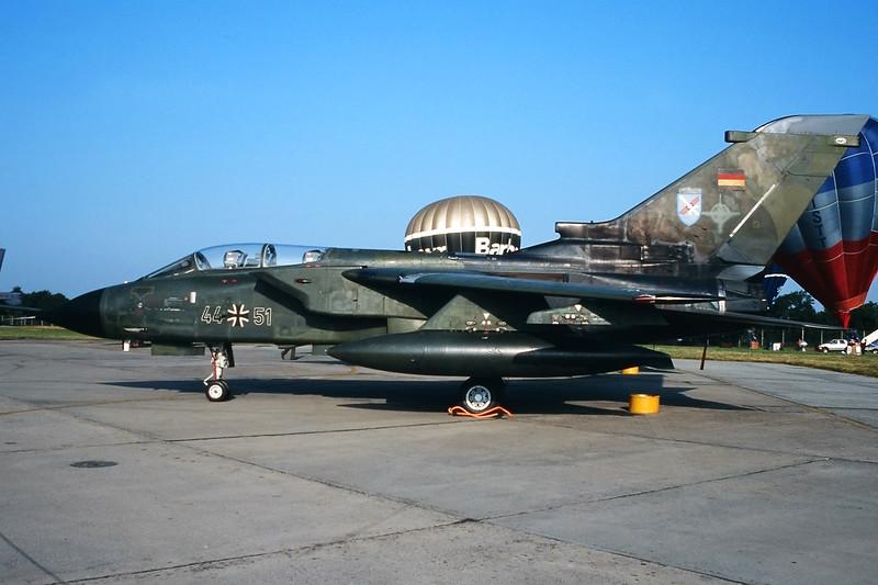 "44+51 BAe/Panavia Tornado IDS ""German Air Force"" c/n GS108 Fairford/EGVA 25-07-99 (35mm slide)"