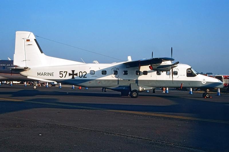 """57+02 Dornier Do.228 212 """"German Navy"""" c/n 8211 Fairford/EGVA/FFD 25-07-99 (35mm slide)"""