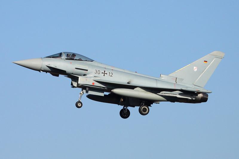 """30+12 BAe EFA EF2000 """"German Air Force"""" c/n GS006 Norvenich/ETNN 31-01-14 """"TLG31"""""""