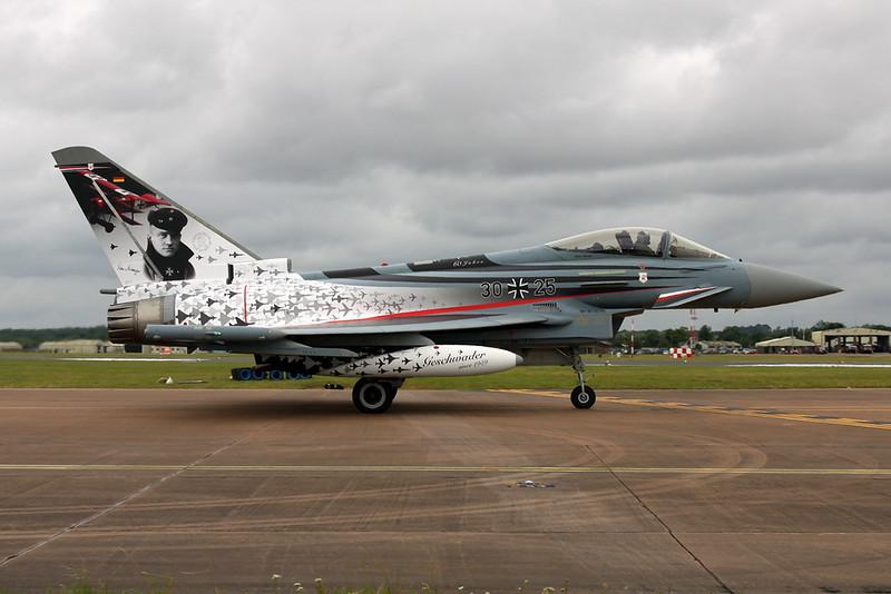 """30+25 British Aerospace EF EF2000 """"German Air Force"""" c/n GS015 Fairford/EGVA/FFD 22-07-19 """"Richthofen"""""""