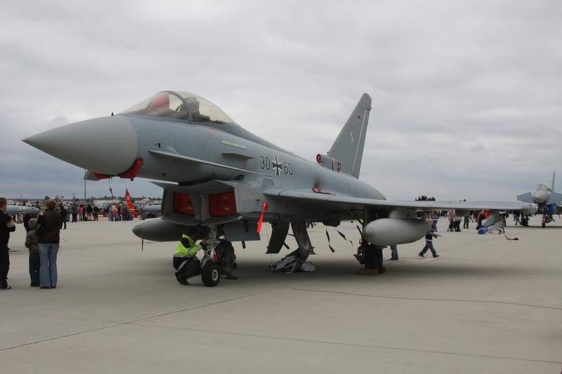 "30+60 BAe EFA EF2000 ""German Air Force"" c/n GS043 Spangdahlem/ETAD/SPM 30-07-11 ""TLG31"""