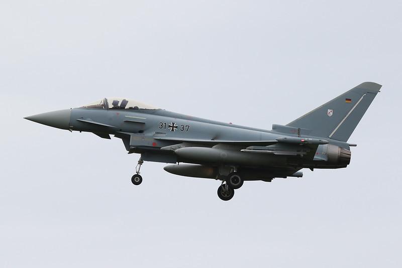 """31+37 British Aerospace EFA EF2000 """"German Air Force"""" c/n GS097 Norvenich/ETNN 25-08-20"""