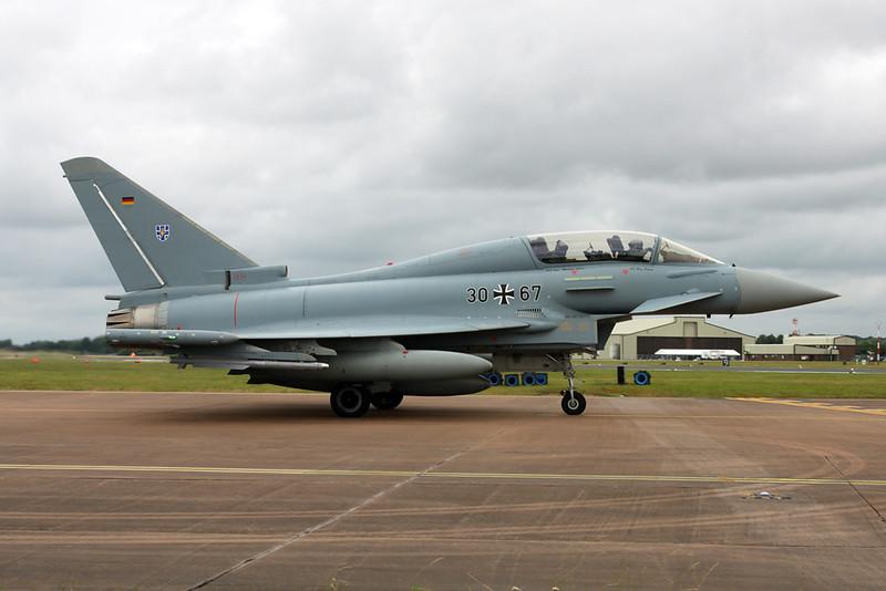 """30+67 British Aerospace EFA EF2000 """"German Air Force"""" c/n GT018 Fairford/EGVA/FFD 22-07-19"""