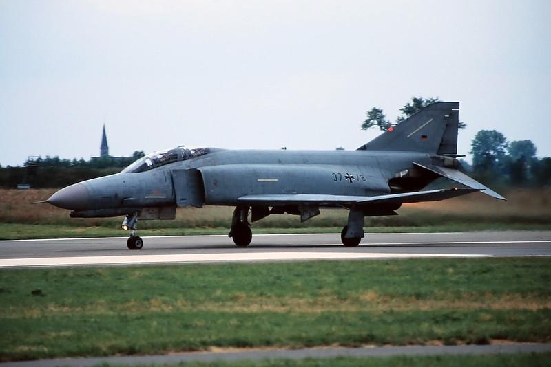 """37+78 McDonnell-Douglas F-4F Phantom II """"German Air Force"""" c/n 4542 Chievres/EBCV 23-06-96 (35mm slide)"""
