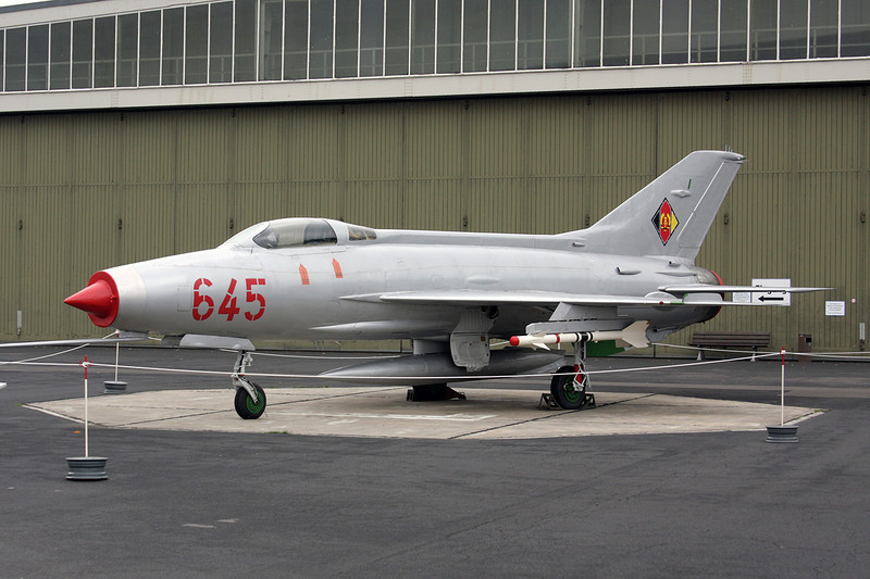 "645 Mikoyan-Gurevich MiG-21F-13 ""East German Air Force"" c/n 74211924 Berlin-Gatow/EDBG/GWW 21-10-09"
