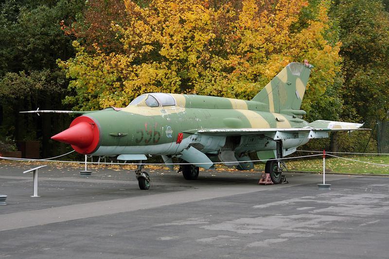 """596 Mikoyan-Gurevich MiG-21M """"East German Air Force"""" c/n 960708 Berlin-Gatow/EDBG/GWW 21-10-09"""