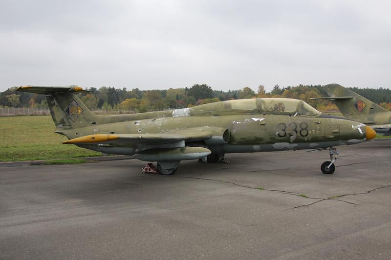 """338 Aero Vodochody L-29 Delfin """"East German Air Force"""" c/n 591525 Berlin-Gatow/EDBG/GWW 21-10-09"""