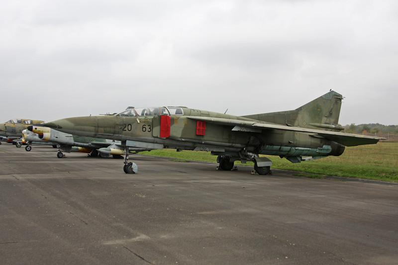"""20+63 Mikoyan-Gurevich MiG-23UB """"German Air Force"""" c/n A1037902 Berlin-Gatow/EDBG/GWW 21-10-09"""