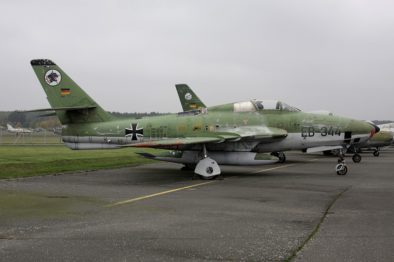 "EB-344 Republic RF-84F Thunderflash ""German Air Force"" c/n 52-7346 Berlin-Gatow/EDBG/GWW 21-10-09"