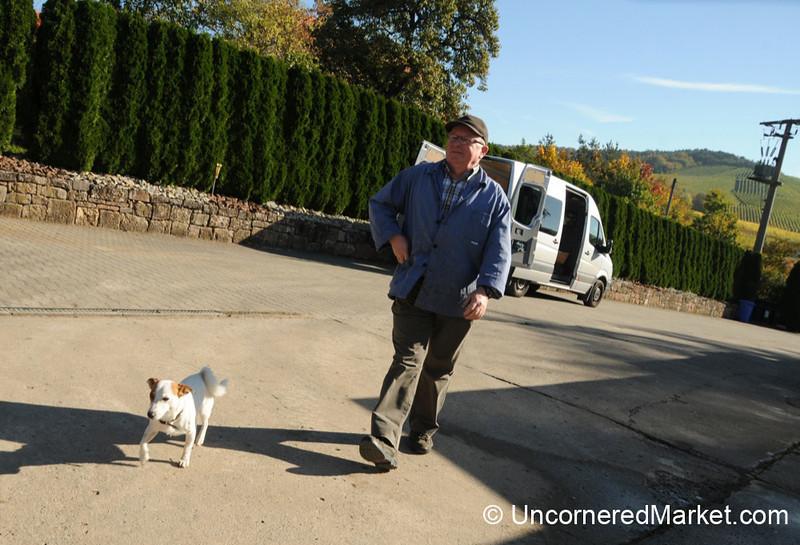 A Man and His Dog - Thüngersheim, Germany