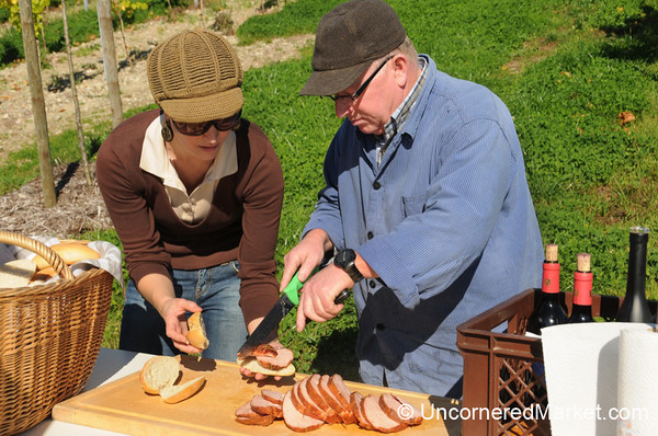 Preparing Leberkäse Sandwiches -