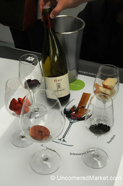 Identifying the Bouquet of a German Wine - Berlin, Germany
