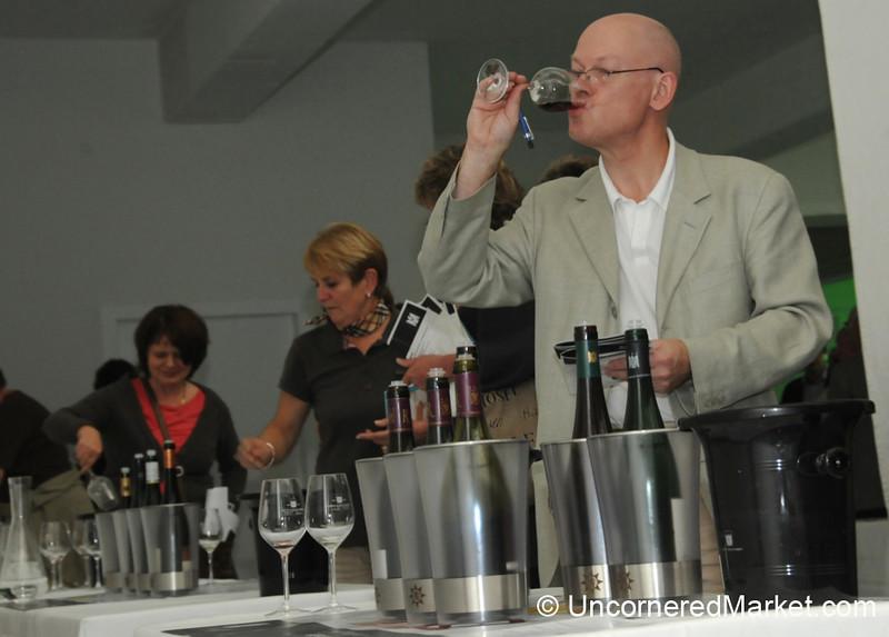 Enjoying Wine Tasting - VDP's 100th Anniversary Events in Berlin, Germany
