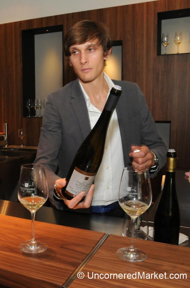 Tasting Mattias Muller Wines in Berlin, Germany