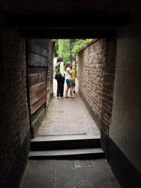 Lubeck is famous for its narrow passageways that lead to housing nestled within city blocks.