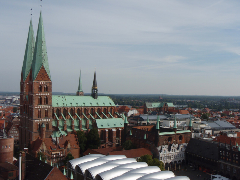 Areal view of Lubeck.