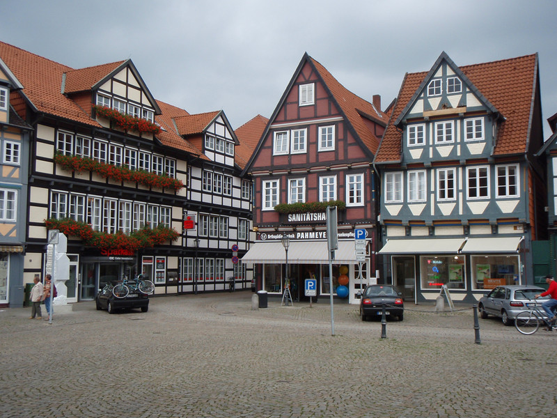 """Downtown Celle, with its distinctively """"cute"""" architecture."""