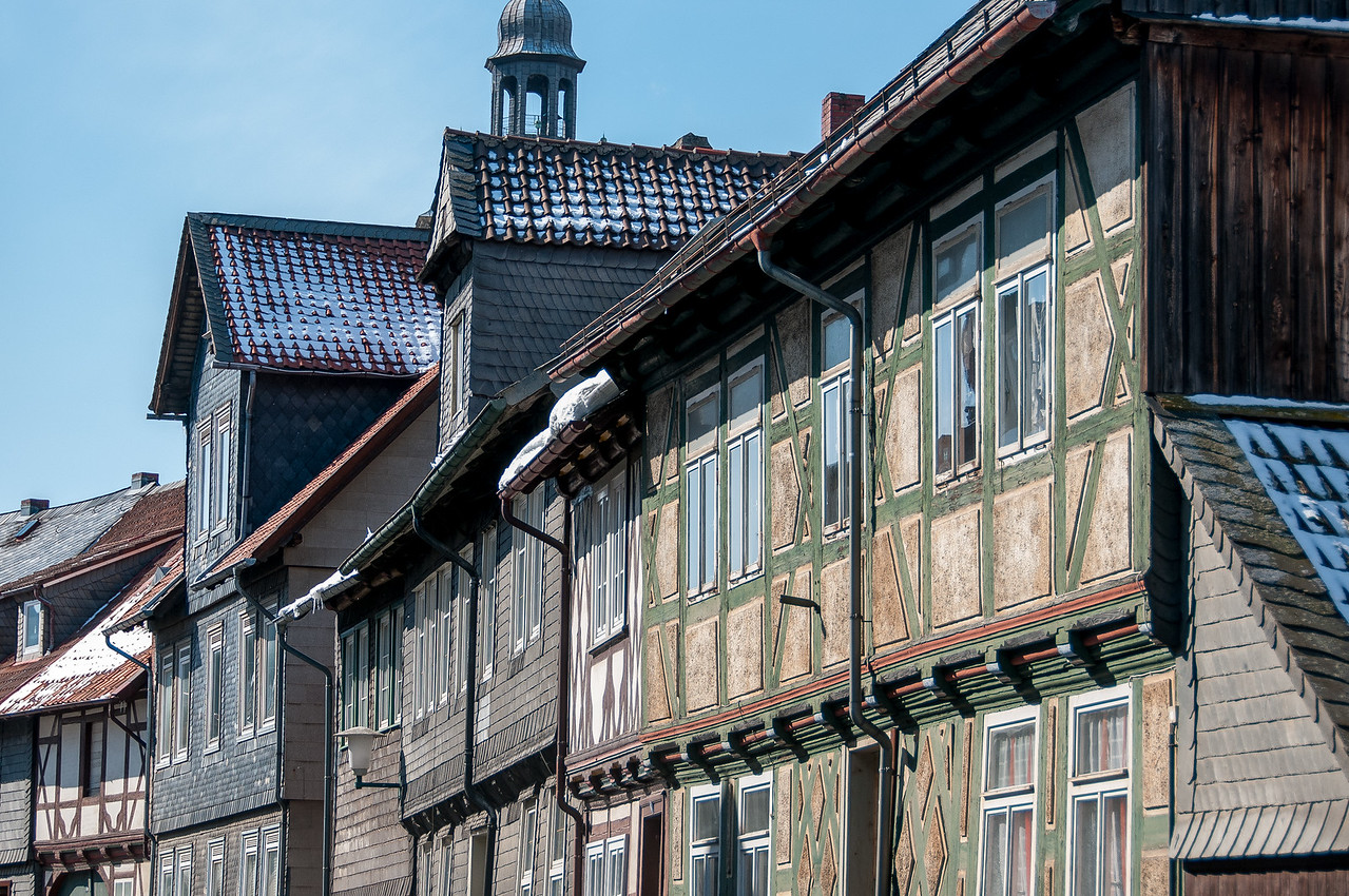 The Market Street in Goslar, Germany